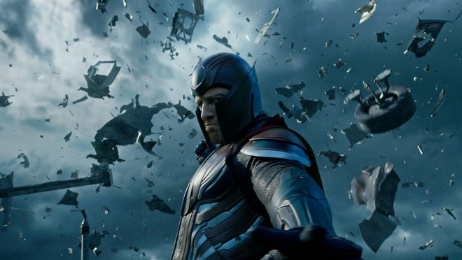 "Magneto, portrayed by Michael Fassbender, appears in a scene from ""X-Men: Apocalypse."""