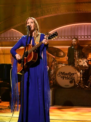 Musical guest Margo Price performs during the April 9, 2016 Saturday Night Live episode hosted by Russell Crowe