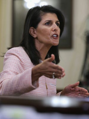 South Carolina Gov. Nikki Haley testifies before the House Homeland Security Subcommittee on Oversight and Management Efficiency about the possibility of  transferring Guantanamo Bay detainees out of Cuba and into the United States.