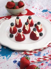 Red, white and blueberry bites.