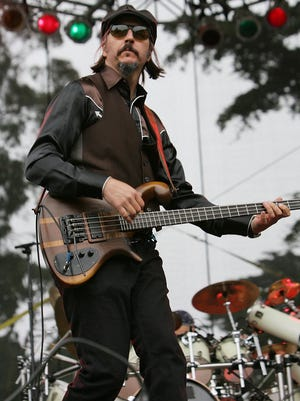 Les Claypool of Primus performs during day two of the Outside Lands festival on August 23, 2008 at Golden Gate Park in San Francisco, California.