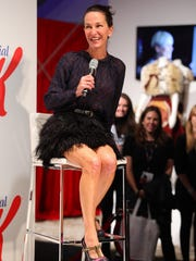 Cynthia Rowley speaks during the presentation of her spring 2012 collection at David Pecaut Square on Oct. 20, 2011, in Toronto.