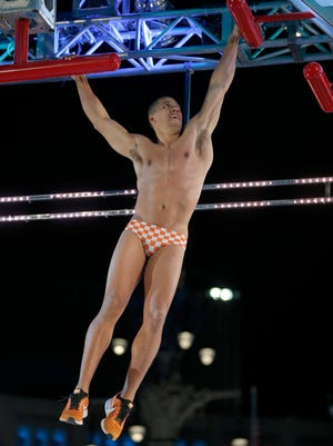 "Michael Wright of Knoxville competes on ""American Ninja Warrior."""