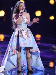 """Farmington's Chevel Shepherd performs during her Nov. 12 appearance on """"The Voice."""""""