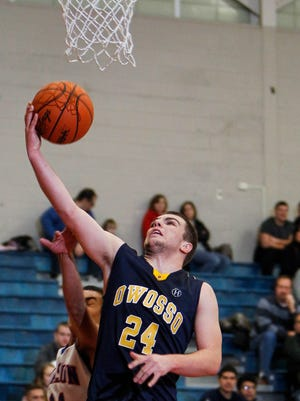 Jalen Weekley, shown in a game earlier this season, had a big night for Owosso.