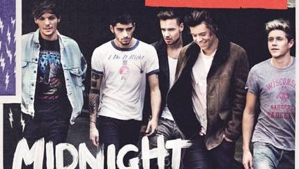 The cover art for One Direction's third studio album, 'Midnight Memories.'