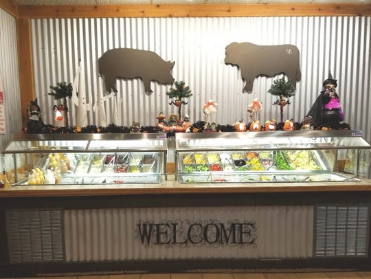 Southern Pig and Cattle's salad bar.