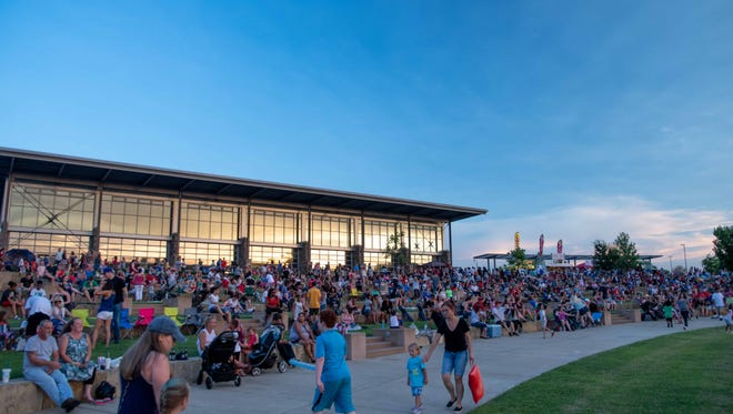 Hundreds of families turned out for the 2018 Clarksville Independence Day Celebration and fireworks at Liberty Park on Tuesday, July 3.