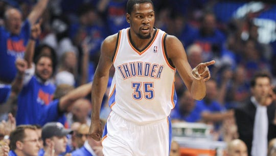 Kevin Durant has been on the receiving end of much
