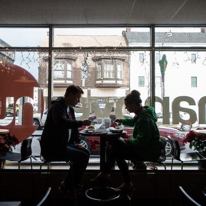 Ken and Melissa Robinson of Hanover enjoy lunch at