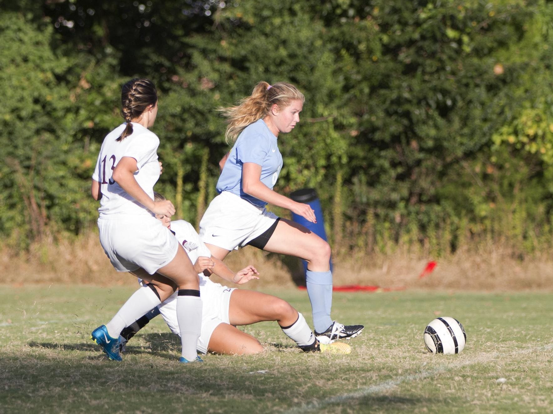 USJ's Addison Dunn is a standout in soccer and softball for the Lady Bruins.