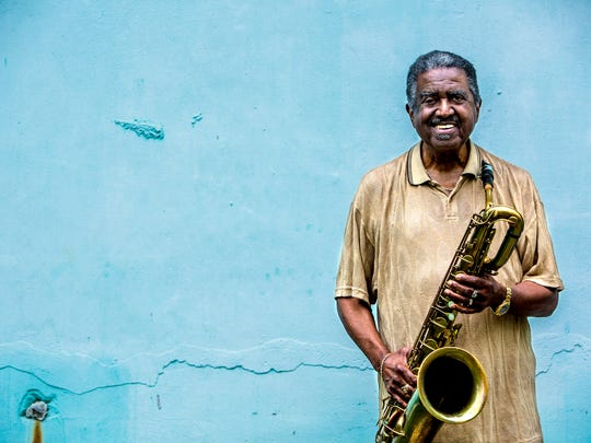April 25, 2018 - Floyd Newman, 86, has been playing saxophone since 1949. The Memphis music legend will soon donate his baritone sax to the Stax Museum.