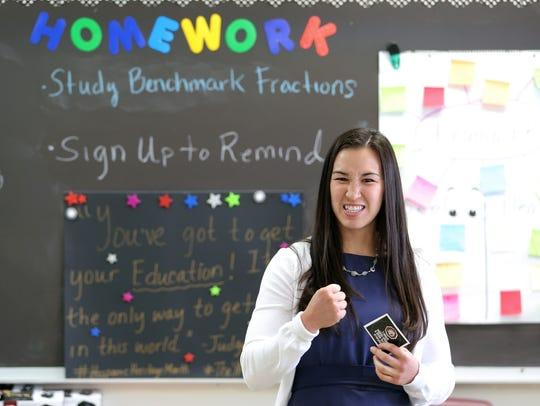 Jennifer Han inspires students in April at Ysleta Middle