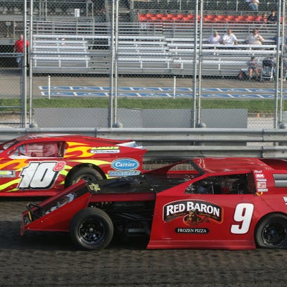 NASCAR driver Ken Schrader, #9, makes his final warmup