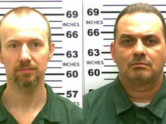 FILE: Police Actively Pursuing Fugitives Richard Matt and David Sweat Convicted Murderers Escape From New York State Prison