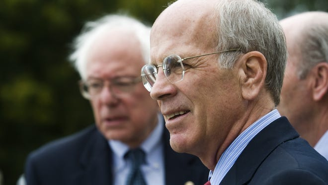 Rep. Peter Welch (right), pictured alongside Sen. Bernie Sanders in Burlington in 2010, has endorsed Sanders for the 2016 Democratic nomination for president.