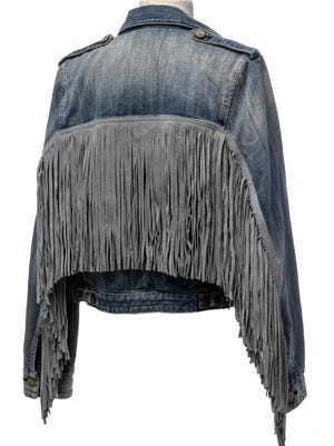 Rodeo? Oh no! This denim jacket can be worn anywhere and with its cool tassel details, it's great for fall fashionistas. McGuire, $239 from Blu Boutique.