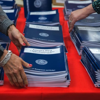 President Trump's first budget asks for a $54 billion