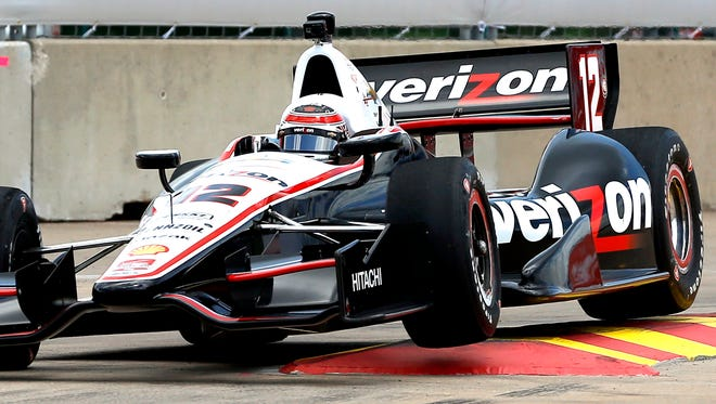 Will Power, of Australia, drives through Turn 2 during a practice session for the IndyCar Grand Prix of Houston on Friday.