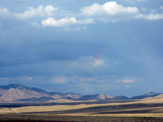 Looking east from Sonoita, Az. at mountains in the