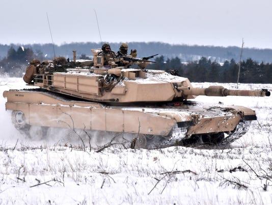 Camp Grayling Abrams M1A1 tanks US Marines