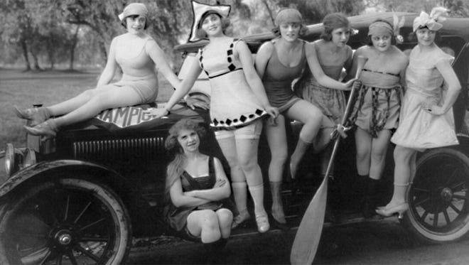 """Along with creating the riotous Keystone Kops, Mack Sennett the silent era's """"King of Comedy"""" also introduced Sennett's Bathing Beauties in 1915."""