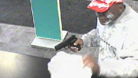 Yonkers police are searching for this suspect who reportedly held up a bank on 2371 Central Park Avenue Wednesday afternoon.