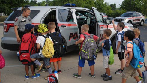 The Mason Police Department hosts a  safety summer camp with the Fire Department and Parks & Recreation.