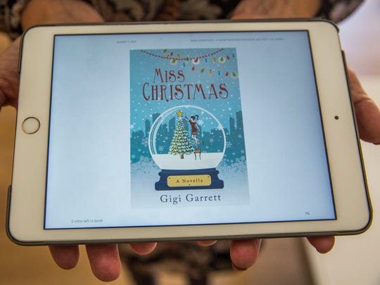 "Naples author Gwendolyn Garrett Heasley in her home on Thursday, Oct. 26, 2017. Heasley self-published a Christmas book, ""Miss Christmas"" in 2015, and on Nov. 5, it will premiere as a Hallmark original film."