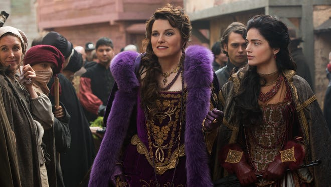 Lucy Lawless as Countess Marburg and Janet Montgomery as Mary Sibley, in 'Salem.'