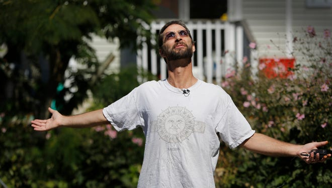 Joe takes a moment to soak in the sun, charging his glow-in-the-dark shirt. He doesn't stay out long, as the heat tires him quickly. It's been almost two years since he was diagnosed with glioblastoma multiforme, an incurable brain cancer considered to be the most aggressive.
