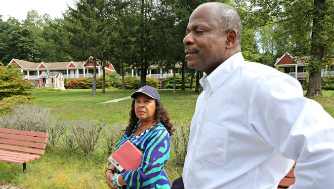 Lena Anderson, president of the White Plains/Greenburgh branch of the NAACP and Greenburgh Town Attorney Timothy Lewis stand at the WestHELP complex in Greenburgh Sept. 22, 2015. The structures are in disrepair and they are hoping the site can be renovated to provide senior or affordable housing.