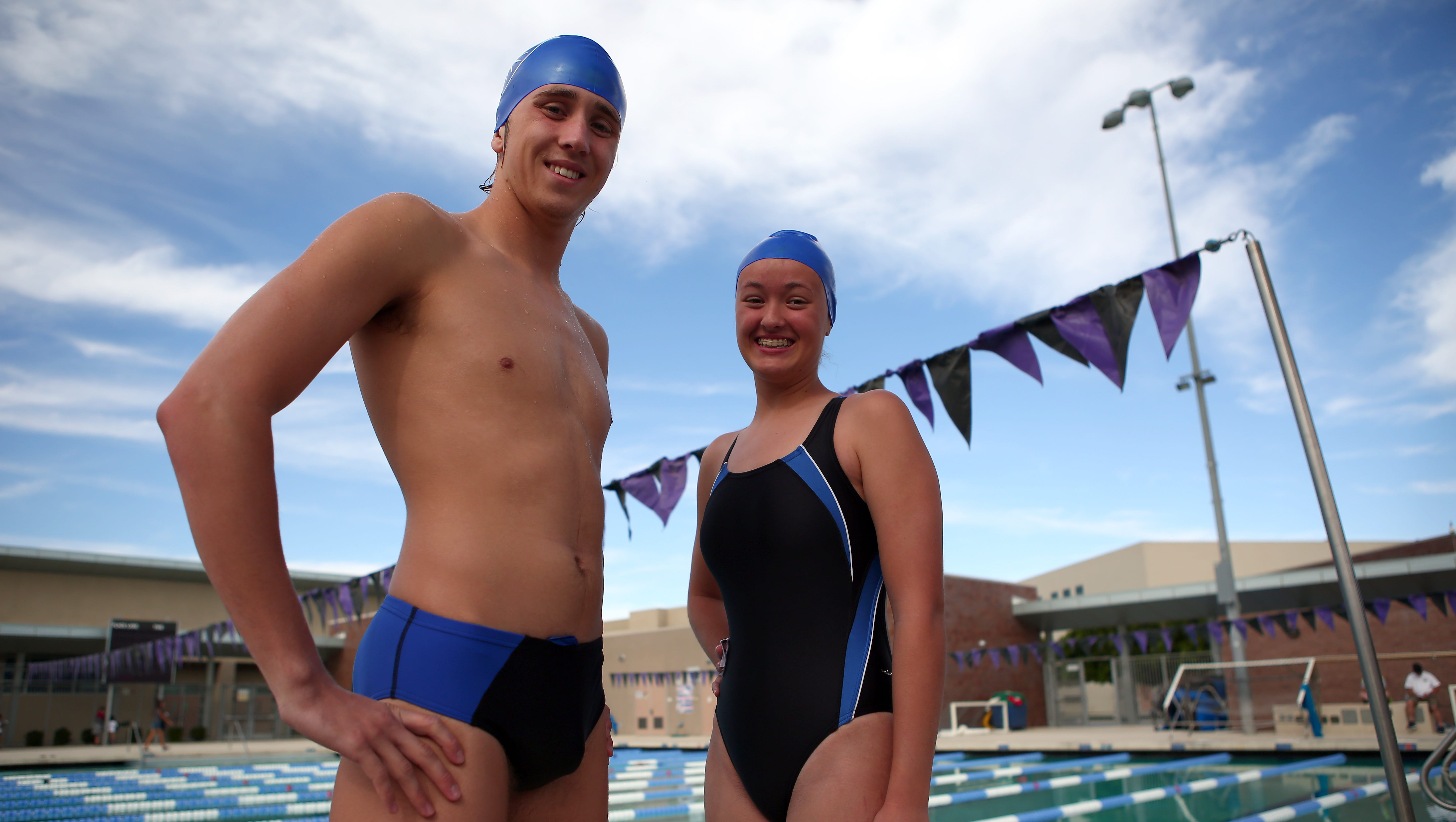 Pair Of Desert Christian Swimmers Form School S Swim Team