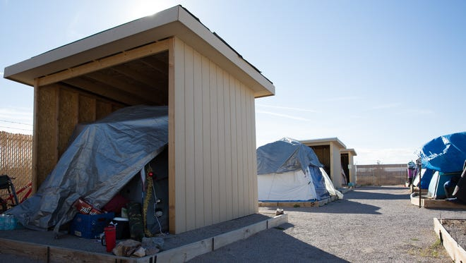 Camp Hope is hoping to continue building new weather structures that residents of the camp can place their tents in to help keep them protected from the weather and wear and tear on their tents. The camp currently has three of the four structures occupied, January 6, 2017