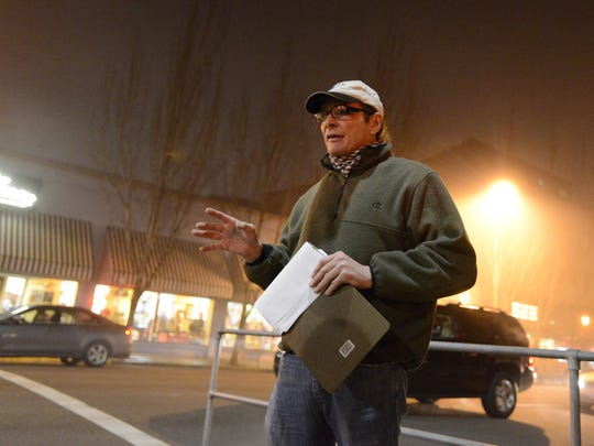 Tim King leads a walking tour of Salem's haunted downtown