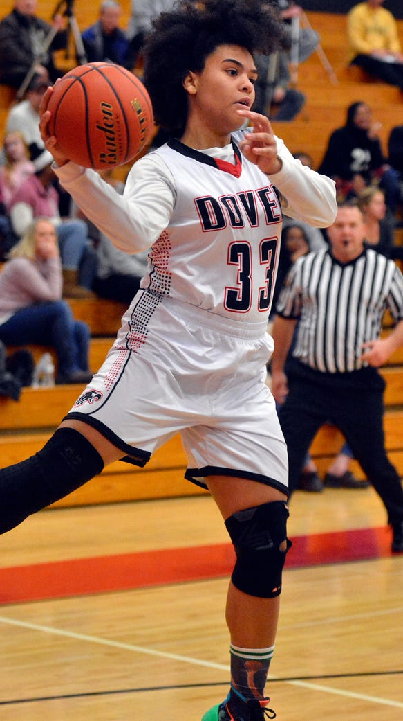 Dover's Rajah Fink went over the 1,000-point mark for