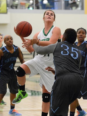 Red Lion High School graduate Morgan Kuehne is York College's second-leading scorer at 11.3 points per game.