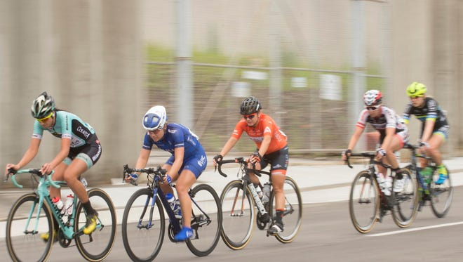 Cyclists along S. Central St. in the USA Cycling Women's Road Race National Championship on Sunday, June 25, 2017.