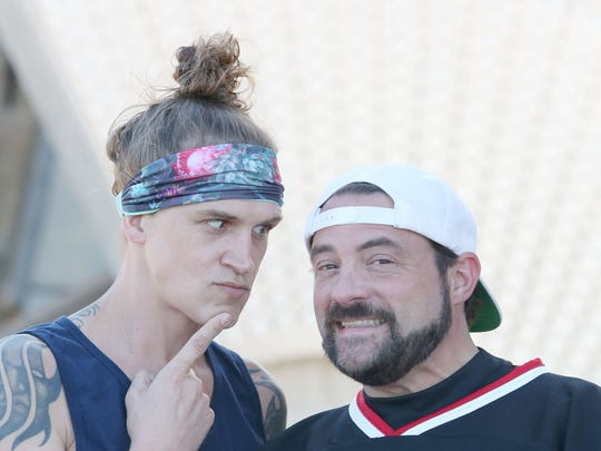 Jason Mewes, left, and Kevin Smith, pictured in 2015.