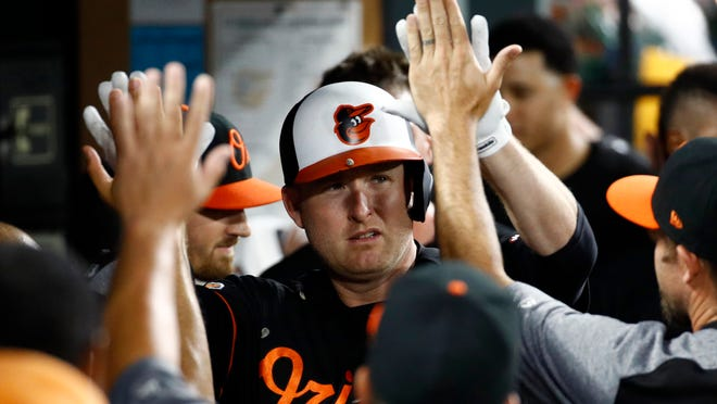 Mark Trumbo will be at Antioch High School on Saturday to give baseball tips to area youth players.