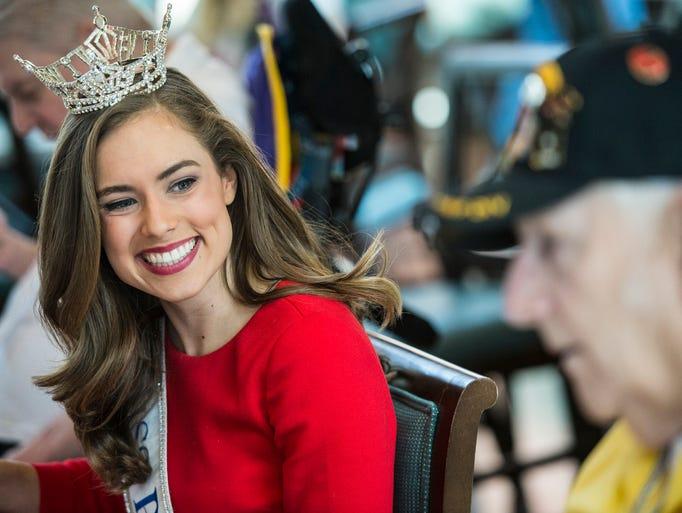 Miss Pennsylvania Samantha Lambert visited Veterans