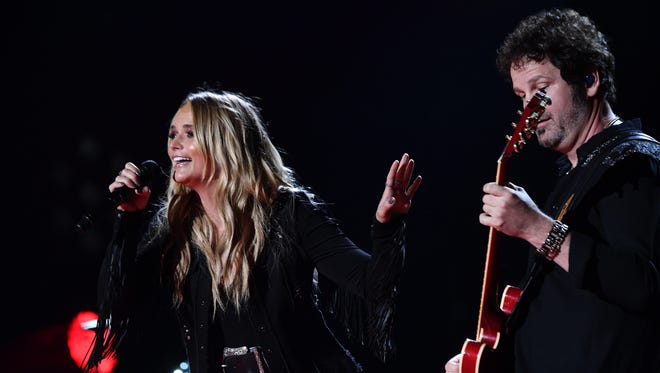 """Miranda Lambert performs during CMA Fest 2017 on June 8 in Nashville. Lambert's """"Gunpowder & Lead"""" and """"White Liar"""" are among thousands of songs that Spotify has been streaming without appropriate licencing, according to a new lawsuit."""