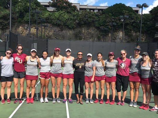 The FSU women's tennis team opened the season
