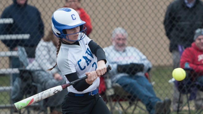 Chillicothe's Julia Hall swings at a pitch during the third inning of Tuesday night's 14-6 win over Unioto.