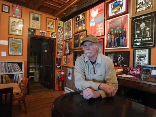 Ned Moran is pictured with his musical memorabilia