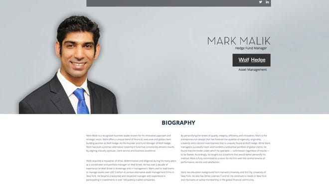 This is a screen shot of http://www.markmalik.com.