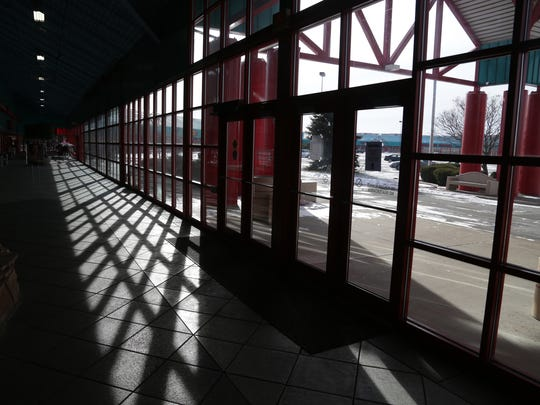 The sun shines through the windows of the Cedar Creek Mall in January of 2013.