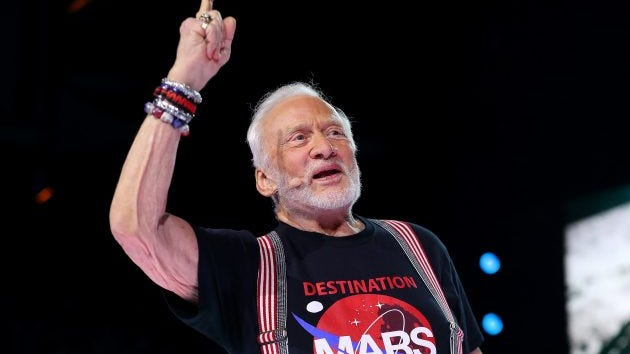 Buzz Aldrin, the former NASA astronaut, in 2016.
