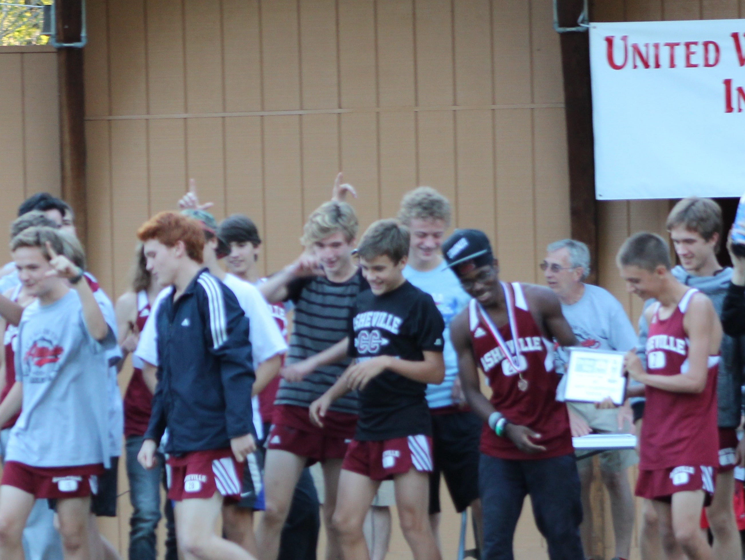 Asheville High was the first-place boys team at Wednesday's United Way Cross Country Invitational in Newton.