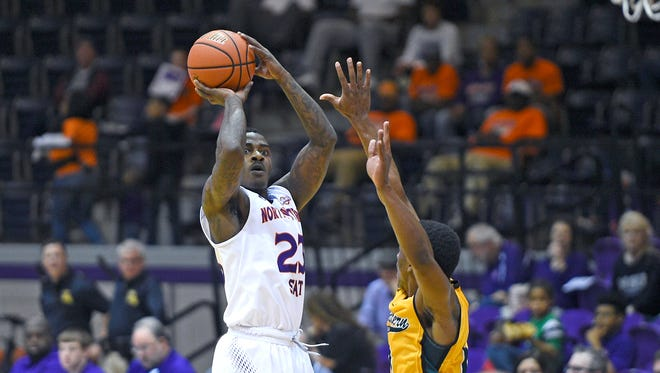 Zeek Woodley and Northwestern State play at Central Arkansas on Monday.